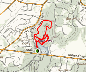 Dunbar Cave Recovery Trail Map