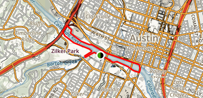 Lady Bird Lake Trail Map