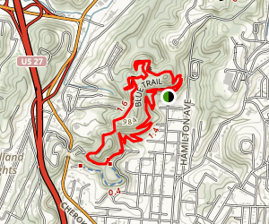 Stringers Ridge via Blue Trail Map
