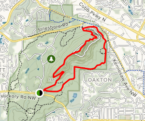 Pigeon Hill to East and West Loop Trail Map