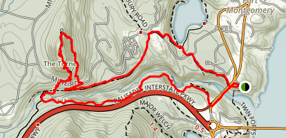 Popolopen Torne Loop Map