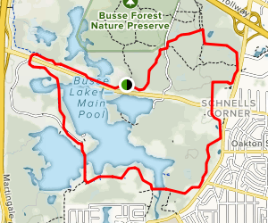 Busse Woods Loop Trail Map