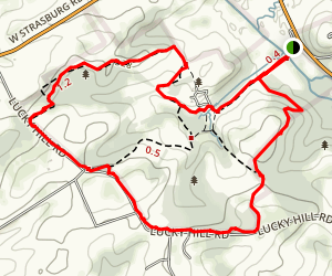 Stroud Preserve Red Trail Map