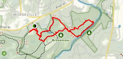 Broadmoor Wildlife Sanctuary Trails Map