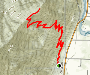 Icicle Ridge Trail (#1570) Map