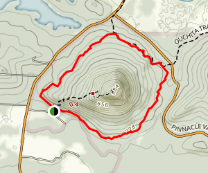 Pinnacle Mountain Base Trail Loop Map