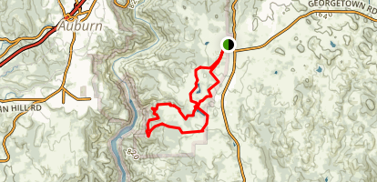 Rim Trail via Olmstead Loop Trial  Map