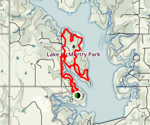 Lake McMurtry West Side Trails (Orange) Map