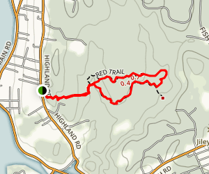 Fort Barton/Sin and Flesh Brook Trail Map
