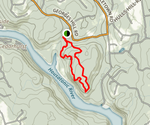 Pomperaug and Crest Trail Loop Map