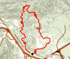 Spring Creek - Flying Dog Trail Map