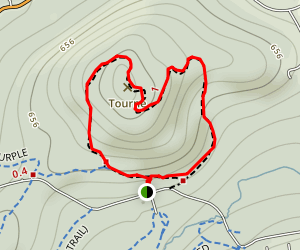The Tourne via Red and Yellow Trail Loop Map