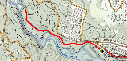 C&O Canal Towpath: Carderock to Great Falls Map