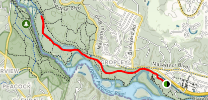 C&O C Towpath: Carderock to Great Falls - Maryland | AllTrails C O Towpath Map on