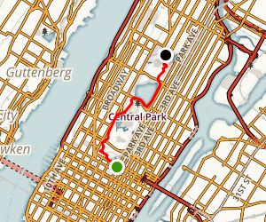 Manhattan: Central Park Trail Map