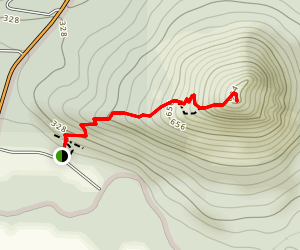 Pinnacle Mountain West Summit Trail Map