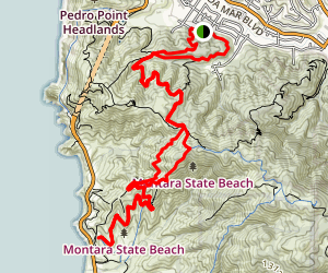 Old San Pedro Mountain Road / North Peak Trail Map