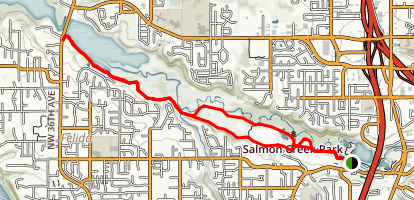 Salmon Creek Trail Map
