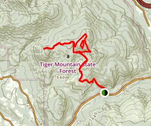 East Tiger Mountain Summit Trail Map