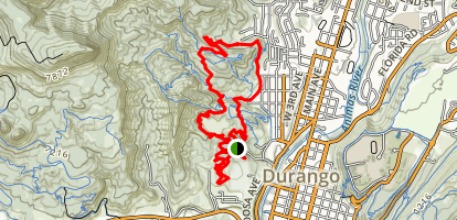 Overend Mountain Trail Map