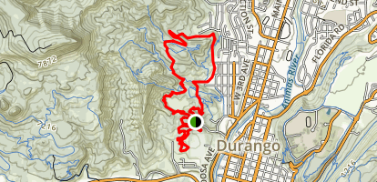 Overend Mountain Trails Map