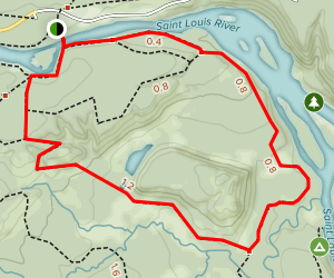 Jay Cooke State Park Campground Trail Map