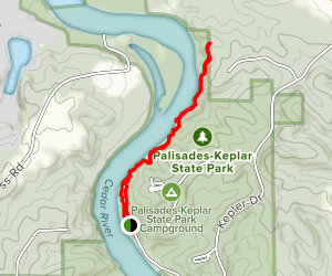 Cedar Cliff Trail Map