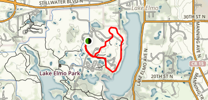 Lake Elmo Park Trail Map