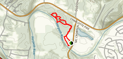 Hidden Lake Double Loop Map