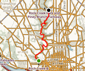 Rock Creek Park Bike Trail Map