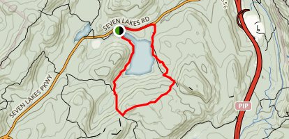 Silvermine Lake to Black Mountain Trail Map