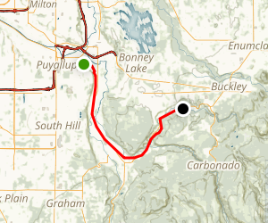 Foothills Trail from Puyallup to South Prairie Map