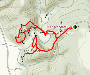Canyon Road and Crows Nest Loop Trail Map