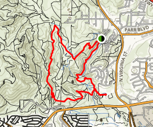Rancho San Rafael Park: Nature Trail Map