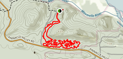 Jackfork Mountain Bike Trail Map
