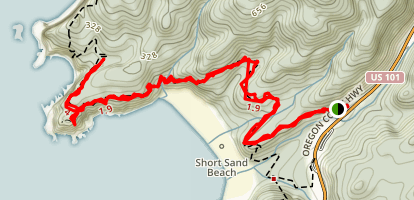 Cape Falcon Trail Map
