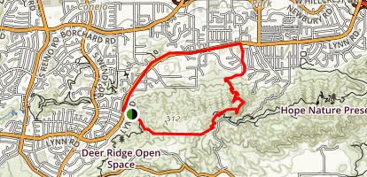 Los Robles Trail Map