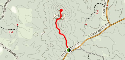 Driskill Mountain Trail Map
