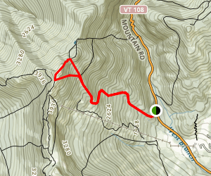 Long Trail to the Chin and Profanity Trail Map
