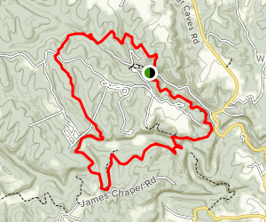 Carter Caves Cross Country Trail Map