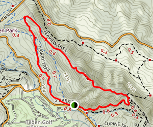 Meadows Canyon and Big Springs Loop Map