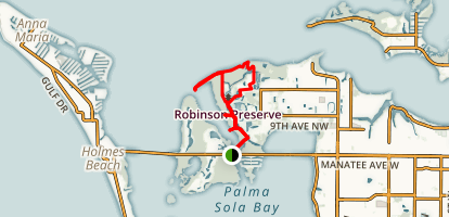 Robinson's Preserve Trail Map