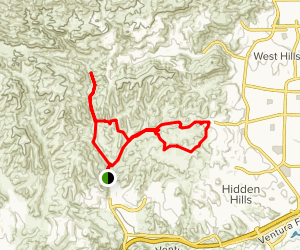 Upper Las Virgenes Canyon Open Space Preserve Trail Map