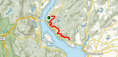 Anthony's Nose, Appalachian Trail, and Camp Smith Map