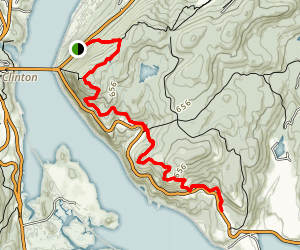Anthony's Nose Trail from Beacon Highway Map