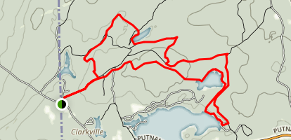 North South Trail and Center Trail to Bowdish Reservoir Map
