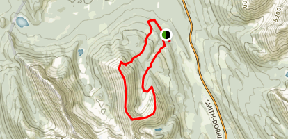 Tent Ridge Horseshoe Map