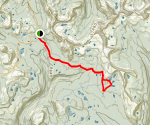 Four Lakes Basin Trail Map