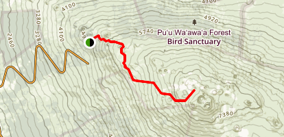 Hinakapoula to Halnoa Crater Trail Map