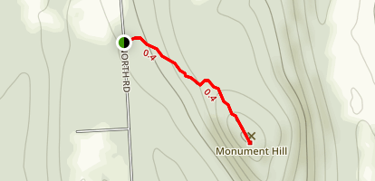 Monument Hill Trail Map